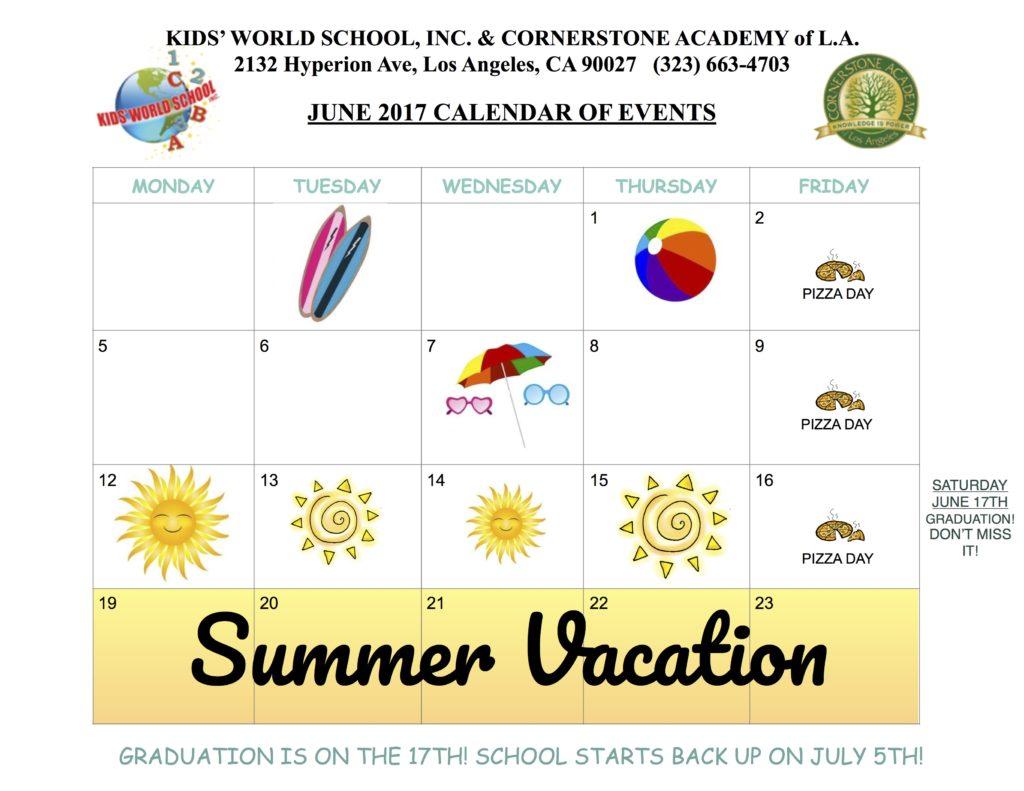 June Calendar Education World : Calendar kids world school